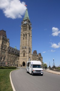 parliament buildings with accessible van