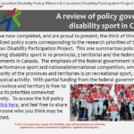 A review of policy governing disability sport in Canada