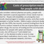 Costs of prescription medications for people with disabilities