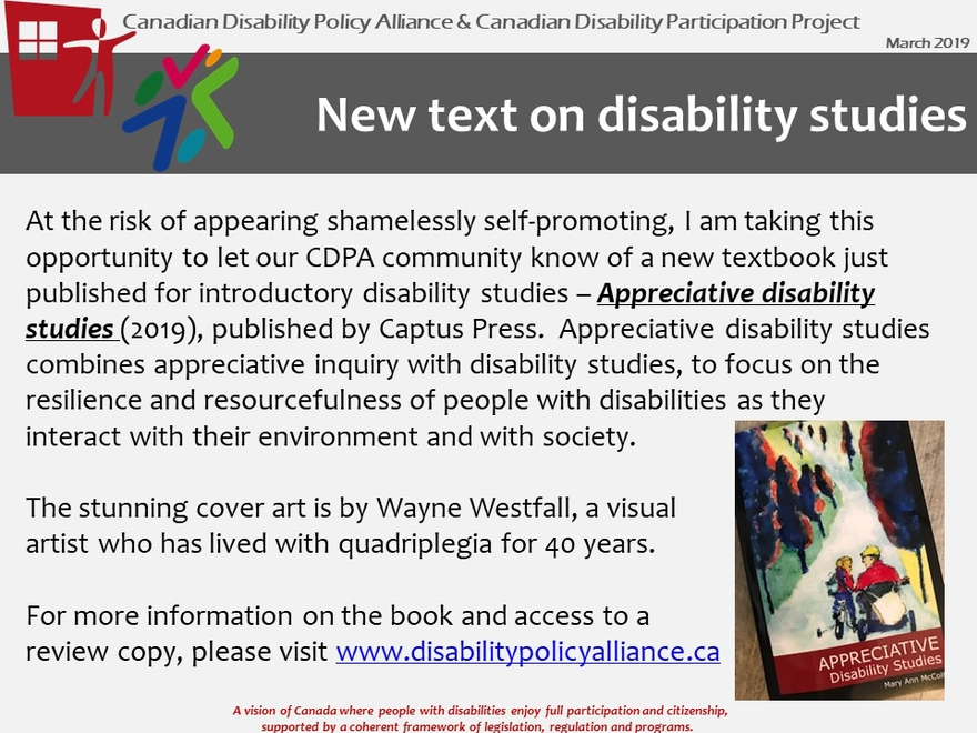 Employment - Canadian Disability Policy Alliance